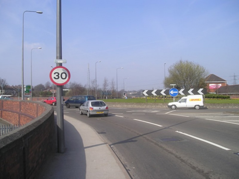road with sign
