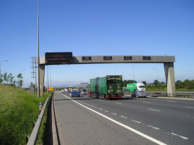 smart motorway road sign