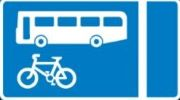 with-flow bus and cycle lane road sign