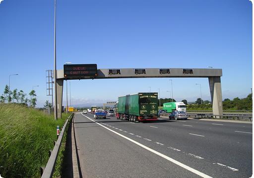 smart motorway road sign