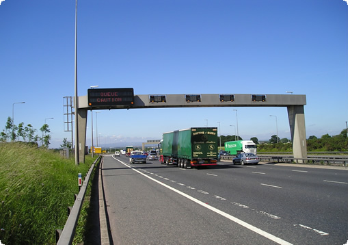 smart motorway sign