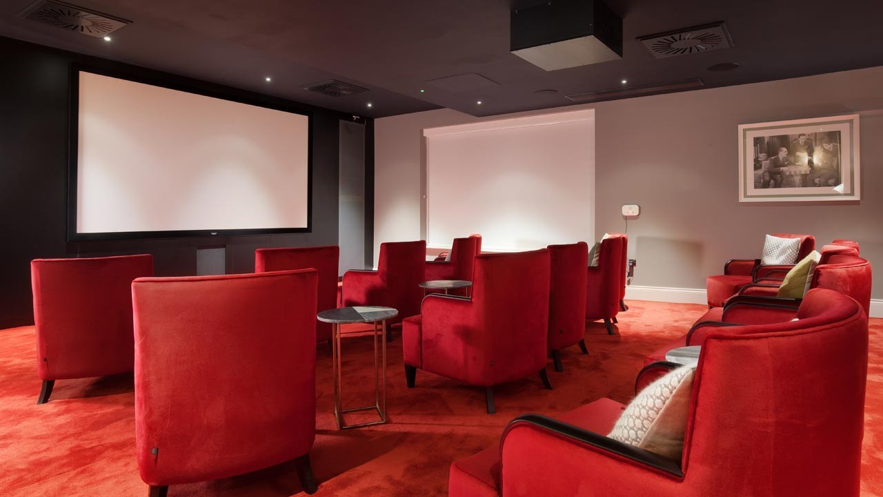 Relax and watch a classic film in our boutique cinema.