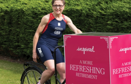 Inspired Villages Advisor Shirley on Her Duathlon Bicycle