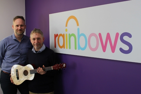 Andrew and Dave visit Rainbows Hospice for Children and Young People