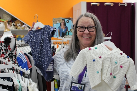 Baby clothes available at Rainbows Hospice for Children and Young People's charity shops