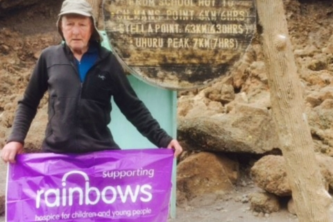 79-year-old Leicester grandfather completes Kilimanjaro for Rainbows