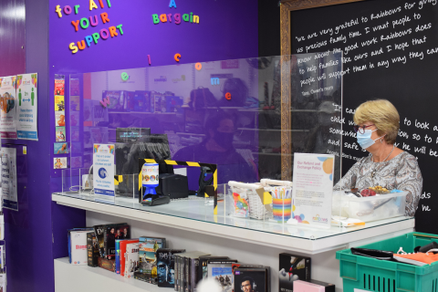 Inside the Rainbows Hospice for Children and Young People's Loughborough charity shop