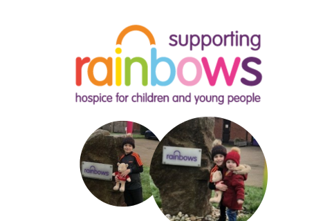 Supporting Rainbows logo and two small images