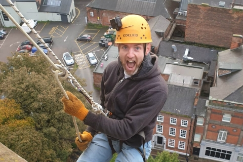 Daredevils take on Derby Cathedral Abseil