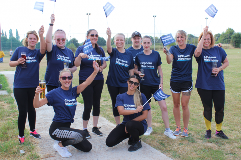 Loughborough businesses takes on sports day fun for Rainbows Hospice for Children and Young People