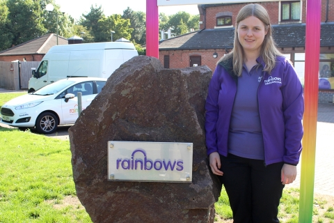 Jess Dixon from Rainbows Hospice for Children and Young People