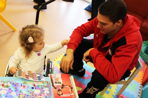 Leicester Riders visit Rainbows