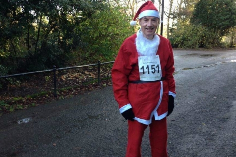79-year-old Santa runs for Rainbows
