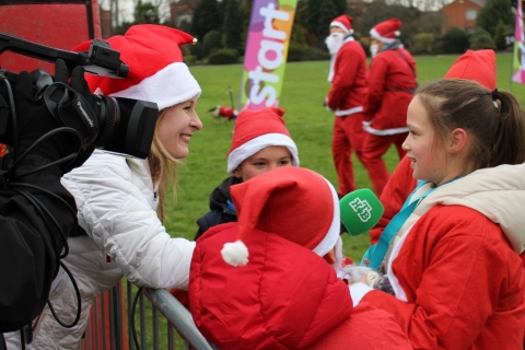 Leicester Santa Fun Run Russian Coverage