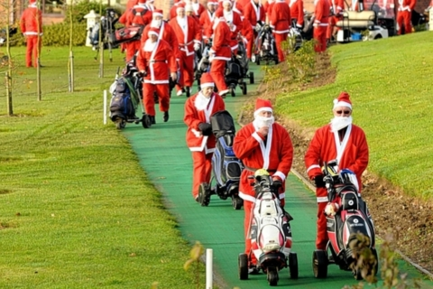 Santa Golf for Rainbows Hospice for Children and Young People