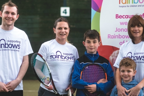 Sarah's 24-hour tennis marathon for Rainbows