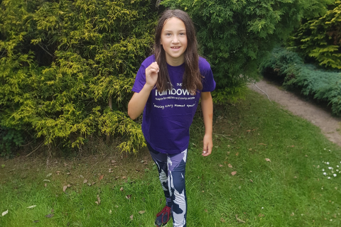 Ashby 10-year-old runs 110 miles for Rainbows Hospice