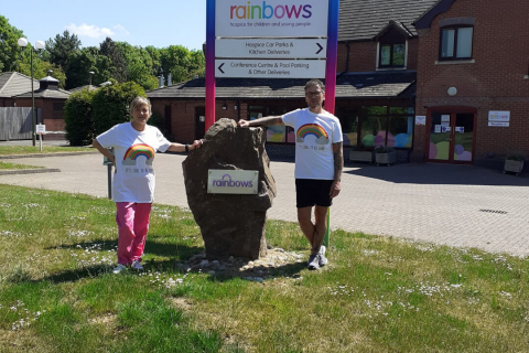 Limited edition Rainbows Hospice for Children and Young People t-shirt