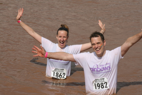 Take part in Mudnificent 7 in support of Rainbows Hospice