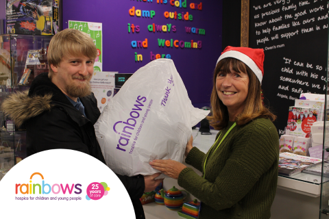 Exchange gifts with Rainbows Hospice for Children and Young People