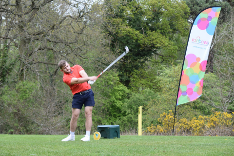 A golfer at the Rainbows Hospice for Children and Young People's golf day