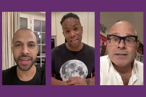 Screenshots of Marvin from JLS, Nigel from CBEEBIES and Harry Hill