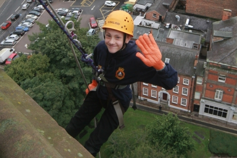 Derby Cathedral Abseil 2020 for Rainbows Hospice for Children and Young People