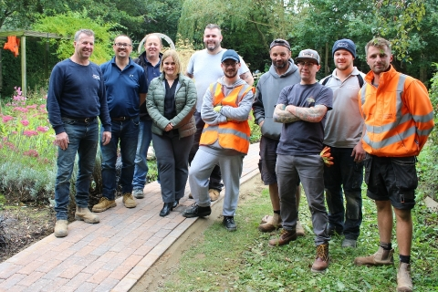 Leicestershire landscapers love Rainbows Hospice