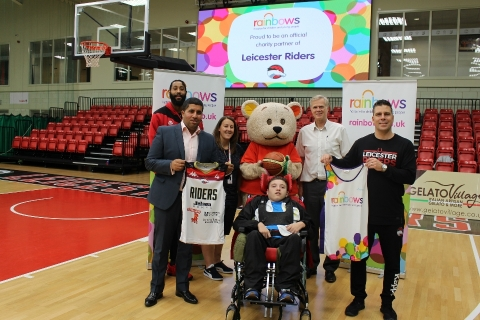 Leicester Riders announces Rainbows as charity partner