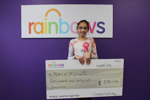 Young Eesha gives up gifts for Rainbows Hospice