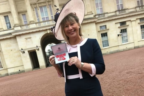 Rainbows Trustee receives MBE