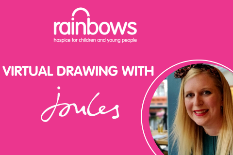 Virtual Drawing with Joules and Rainbows Hospice