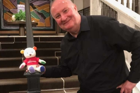 Alan Dedicoat appears at Rainbows Hospice for Children and Young People's annual lunch