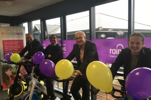 Bike ride challenge for Rainbows Hospice