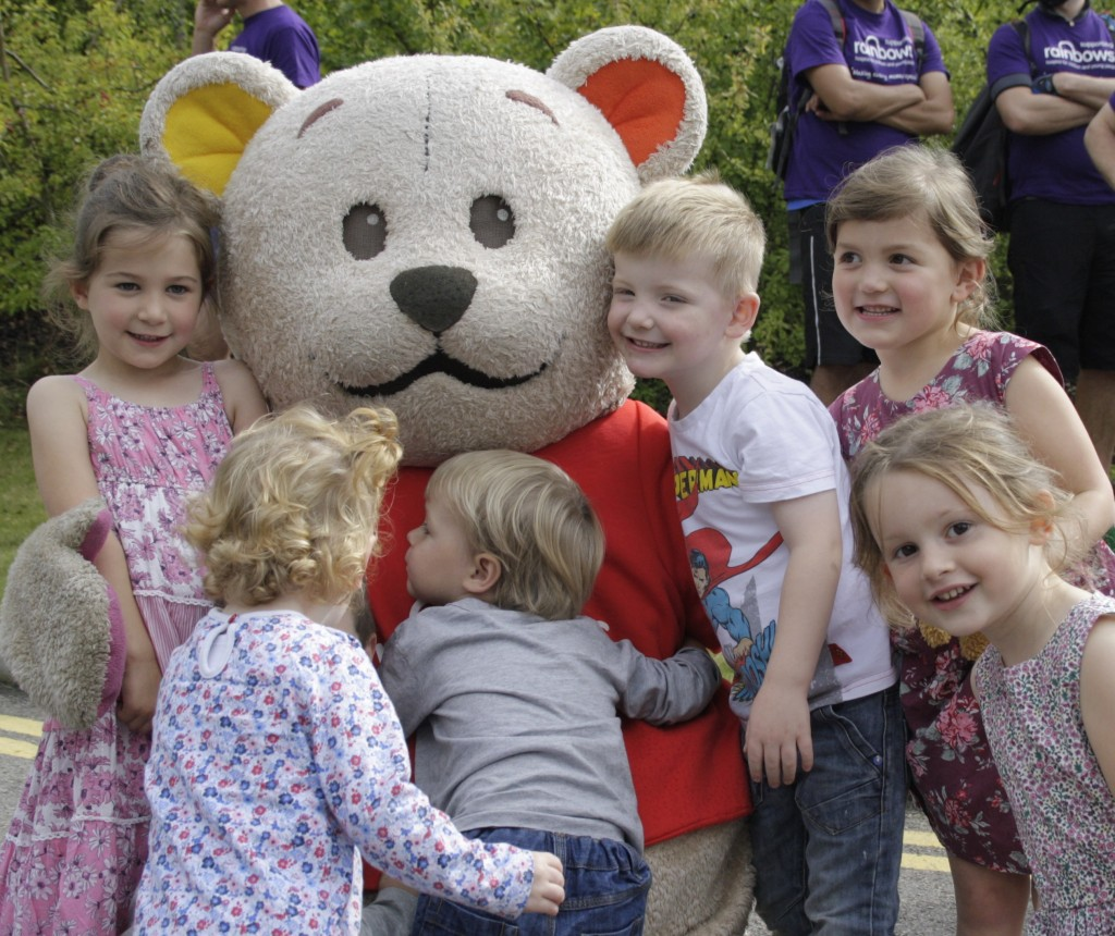 Children with Bow Bear