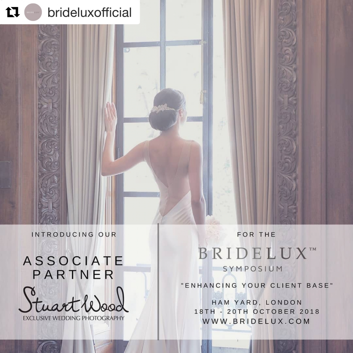 Stuart Wood Weddings / Bridelux Symposium/ Associate Partner