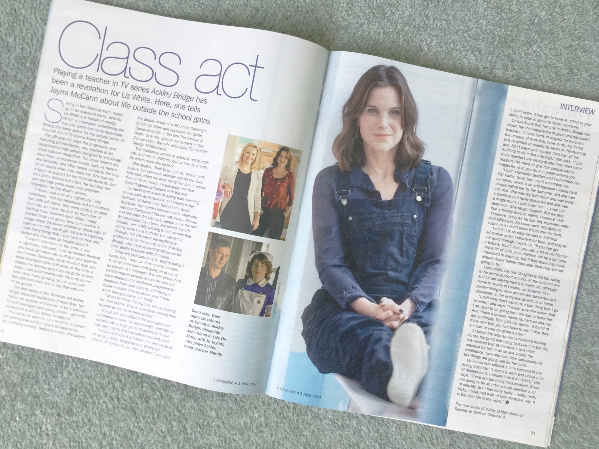 Styart Wood / Sunday Express Magazine / Liz White / Ackley Bridge 1