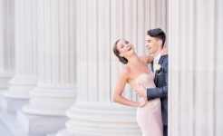 Stuart Wood Weddings / Suzie Turner Couture / Four Seasons Ten Trinity Square / Pillars