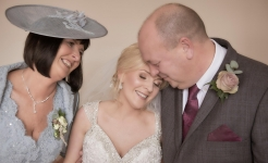 Stuart Wood Weddings / Emma and Ashley Dad Hug / Horsley Lodge