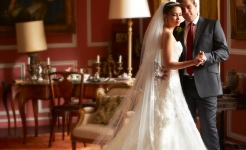 Stuart Wood Weddings / Thrumpton Hall Weddings / Liliya and Dennis Saloon