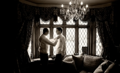 Stuart Wood Weddings / Hassop Hall Weddings / Lucy & Martin Window