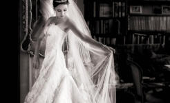 Stuart Wood Weddings / Thrumpton Hall Weddings / Liliya by mirror