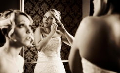 Jo & BMaid Mirror / Thrumpton Hall Weddings / copyright Stuart Wood 2013