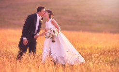 Stuart Wood / Jim & Jane / Sunset Kiss / Four Seasons Hampshire Weddings